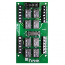 Плата преобразования программируемых логических выходов PGM в сухие контакты реле Pyronix PCX-ATE8R