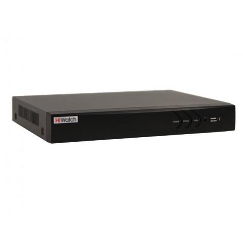 Гибридный 16-ти канальный видеорегистратор HiWatch DS-H216UA